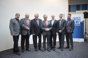Andreas Dittscheid (HDW), Helmut Gebauer (Wochspiegel), Dr. Gerd Bauer (LMS), Jan Hofer (Tagesschau), Prof. Thomas Kleist (SR), Sasch Thiel (Radio Salü), Knut Meierfels (BigFM)